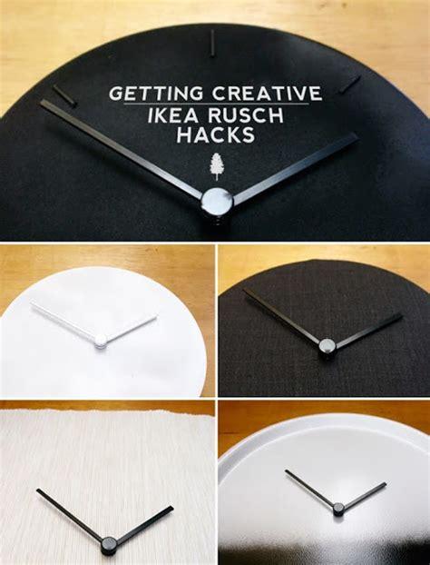 creative exercise  rusch clocks ikea hackers