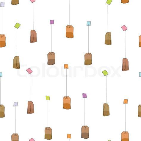 tea bag pattern stock vector colourbox