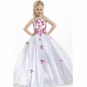 2015 Lovely White Flower Girl Dresses Appliques Kids Party ...