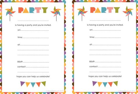 invitations to print free best compilation of printable birthday party invitations