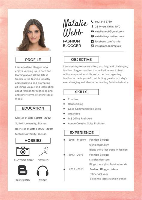 Lebenslauf Gestalten by Free Best Fashion Resume Cv Template In Photoshop Psd