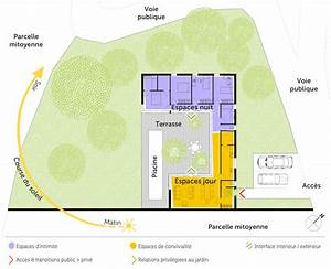 plan maison en u avec 4 chambres ooreka With photo de plan de maison 4 situation