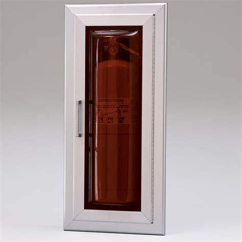 larsen cameo series recessed fire extinguisher cabinet