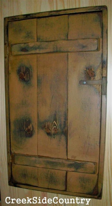 primitive wood circuit breaker fuse box cover