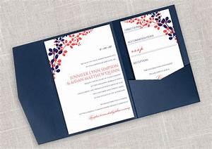 Diy pocket wedding invitation template set by karmakweddings for Diy pocket wedding invitations tutorial