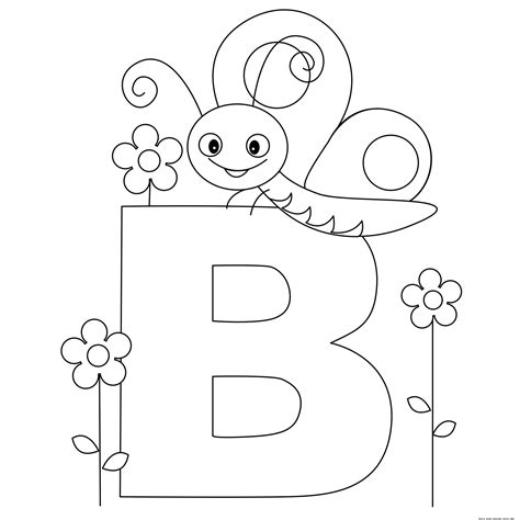 Coloring Alphabet by Printable Animal Alphabet Letter B Butterflyfree Printable