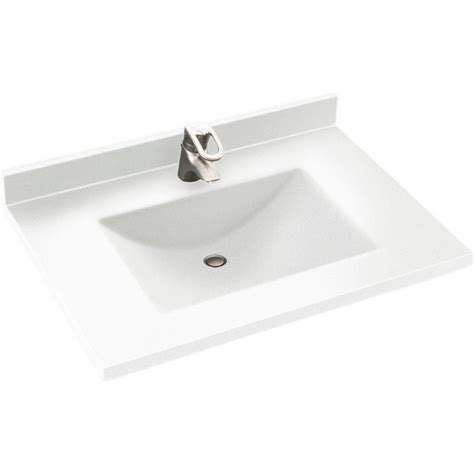 swan contour        solid surface vanity top