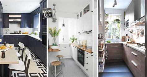 cuisine en longueur ouverte aménagement cuisine en longueur 20170824045835