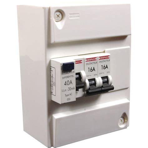 interrupteur cuisine tableau électrique équipé non précâblé debflex 1 rangée 6