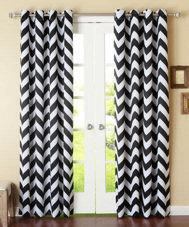 best home fashion black chevron room darkening grommet curtains set of two set of curtains