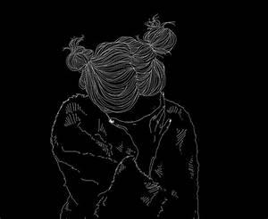 alone, black, black&white, blackandwhite, confused - image ...