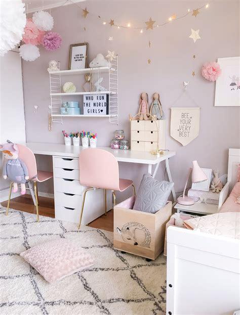 A Scandinavian Style Shared Girls' Room  By Kids Interiors