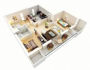 25, Three, Bedroom, House, Apartment, Floor, Plans