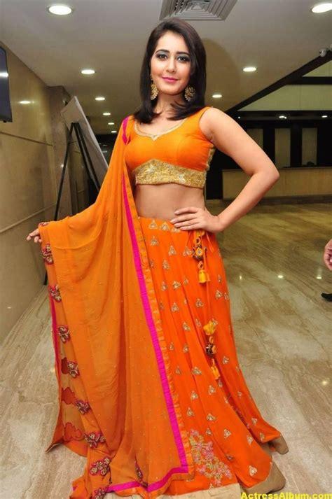 Rashi Khanna Latest Hot Images In Orange Dress Actress Album