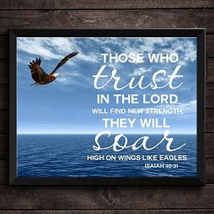 Printable Bible Verse Trust In the Lord Isaiah 40:31 ...