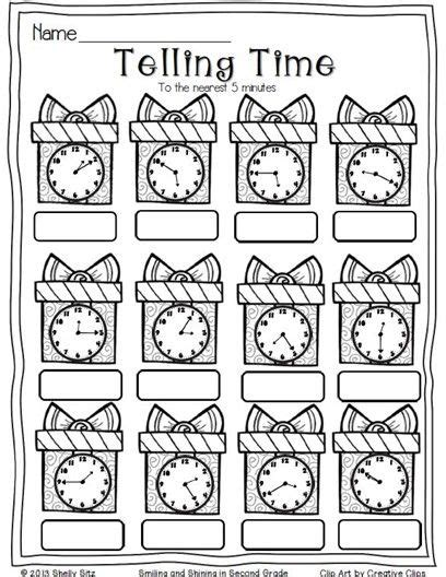 teaching strategies christmas math telling time to