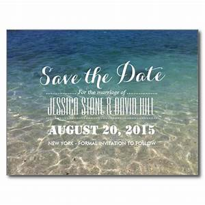 beautiful tropical beach wedding save the date postcard With wedding invitations northern beaches