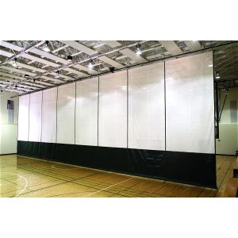 psi fold up divider curtain system motorized