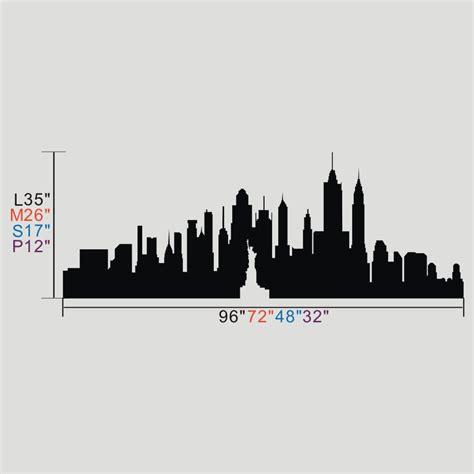 battoo york city skyline silhouette wall the big apple wall decor custom vinyl