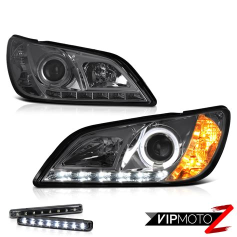 smoke lens drl system projector headlights 2001 2005 lexus