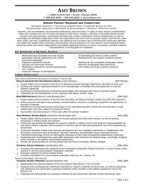 It Project Manager Resume India by Stunning Finance Project Manager Resume Contemporary Resume Sles Writing Guides For All