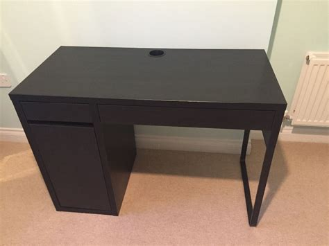 micke desk ikea micke desk black brown from ikea in pontyclun rhondda