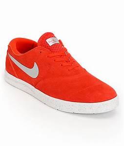 Nike SB Eric Koston 2 Lunarlon Pimento Red & Silver Suede ...