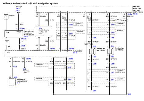 ford expedition    diagram   radio