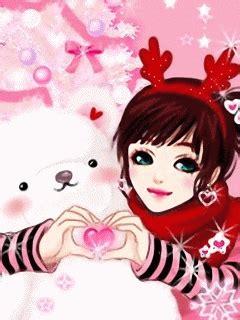 gambar kartun korea cantik jatuh cinta gambar anime korea  love  animasi bergerak lucu