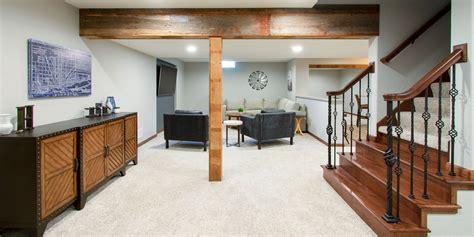 rustic modern basement remodel hartland wisconsin