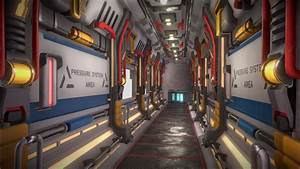 Sci-fi, Corridor, Challenge, Space, Station