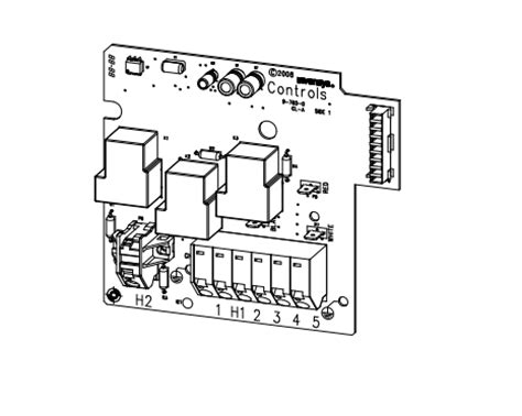 heater relay board  iq  model  hot spring