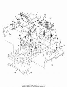 Troy Bilt 17af2acp011 Mustang Rzt 50  2008  Parts Diagram For Operators Platform