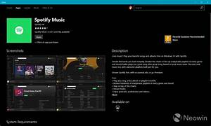 Spotify for Windows 10 PCs appears in the Windows Store ...
