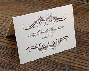 8 best images of wedding name cards printable wedding With templates for place cards for weddings