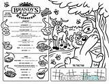 Coloring Menu Restaurant Kid Activities Designlooter Placemat Cartoon Side Front 773px 46kb 1000 sketch template