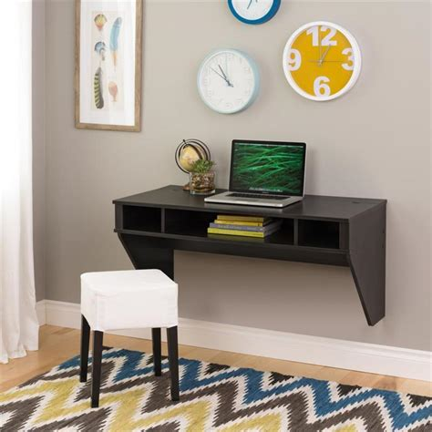 prepac wall mounted floating desk prepac designer wall mounted floating desk ebony hehw 0500 1