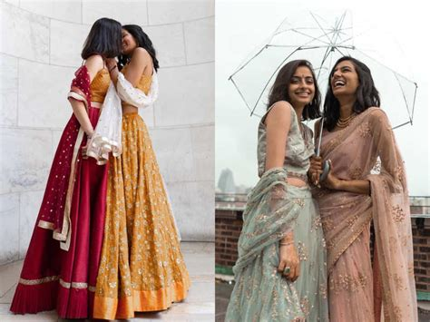 this lesbian indo pak couple has the most stylish wedding wardrobe and the pictures are going