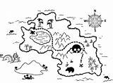 Coloring Treasure Map Pages Pirate Popular sketch template