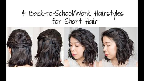 4 Easy 5 Min Back to School/Work Hairstyles for Short Hair
