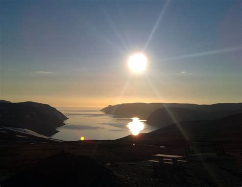 sunset honningsvag norway europe pictures