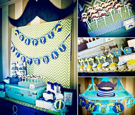1st birthday party ideas for boys best on a boy 1st birthday boy mustache bash party planning ideas