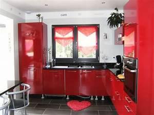 Cuisine Rose Poudré : good chambre gris et rose poudre cuisine rouge et noir ikea cuisine rouge et noir with faience ~ Melissatoandfro.com Idées de Décoration