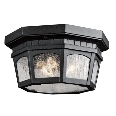 outdoor flush mount ceiling light fixtures kichler 9538bkt black weatherly 3 light outdoor flush