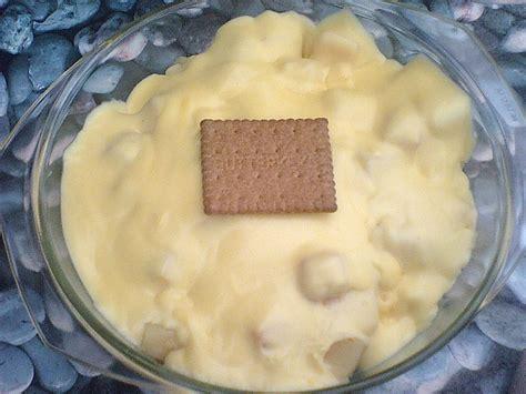 Tuttifrutti Puddingfrüchte Dessert Mit Butterkeksen