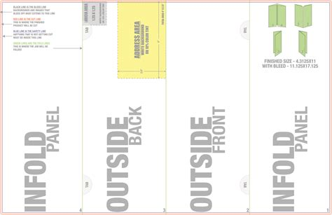 4 sided brochure template welcome to trade 4over com