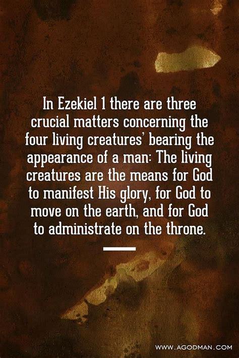 living creatures   means  gods manifestation move  administration bible