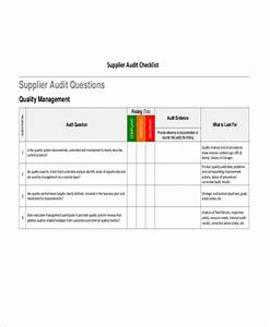 43 checklist templates examples samples for Supplier audit plan template
