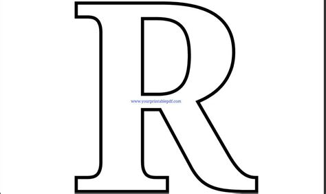 Printable Pdf Letter R Coloring Page