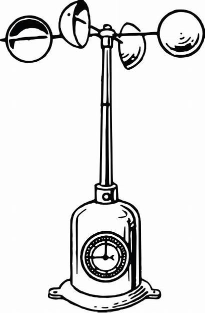 Anemometer Clipart Wind Drawing Speed Cup Instrument